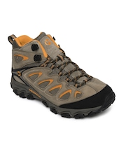 Merrell Men Brown Pulsate Mid Waterproof Leather Sports Shoes