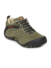 Merrell Men Green Chameleon II Leather Sports Shoes