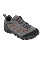 Merrell Men Grey Pulsate Ventilator Leather Sports Shoes
