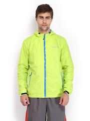 Merrell Men Fluorescent Green Hooded Jacket