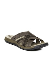 Merrell Men Brown Traveller Tilt Cross Sandals