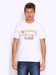Merrel Men White Printed T-shirt