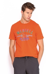 Merrell Men Orange Printed T-shirt