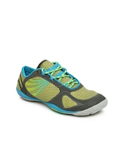 Merrell Women Grey and Yellow Pace Glove 2 Sports Shoes