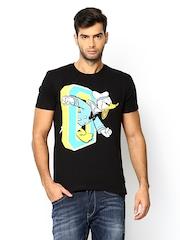 Mickey & Friends Black Printed T-shirt