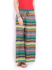 Mirage Women Multicoloured Printed Palazzo Trousers