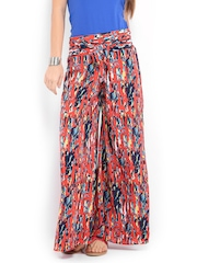 Mirage Women Red Printed Palazzo Trousers