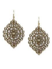Mirage by Anouk Antique Gold-Toned Drop Earrings