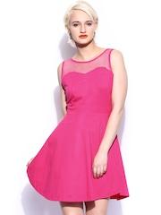 Miss Chase Pink Skater Dress