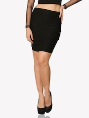 Miss Chase Black Pencil Formal Skirt