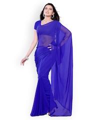 Diva Fashion Blue Chiffon Fashion Saree