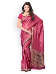 Diva Fashion Pink Printed Art Silk Fashion Saree