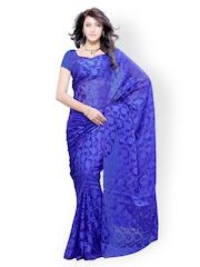 Diva Fashion Blue Brasso Fashion Saree