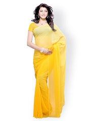 Diva Fashion Yellow Georgette Fashion Saree