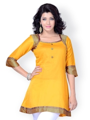 Miss and Mrs Women Yellow Kurta