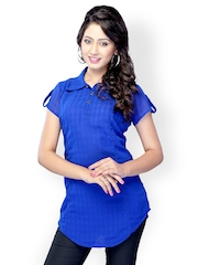 Miss and Mrs Women Blue Kurti