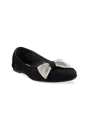 Mochi Women Black Flat Shoes