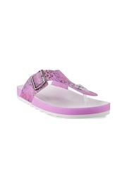 Mochi Women Pink Printed Flats