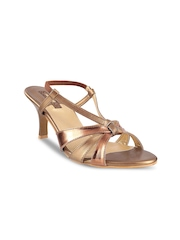 Mochi Women Gold-Toned Heels