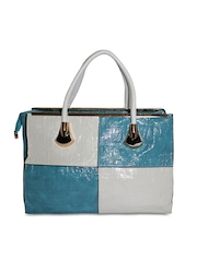 Moda Desire Blue & White Handbag