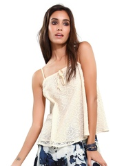 Monica Dogra for Stylista Women Cream-Coloured Ezras Poetic Pen Top