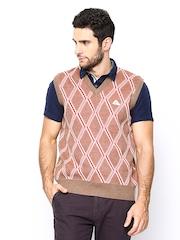 Monte Carlo Men Brown Sleeveless Sweater