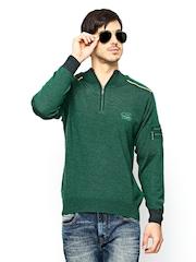Monte Carlo Men Green Woollen Sweater