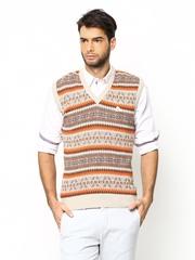 Monte Carlo Men Multicoloured Lambswool Blend Sleeveless Sweater