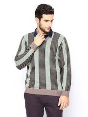 Monte Carlo Men Multicoloured Striped Sweater