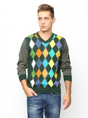 Monte Carlo Men Olive Green Sweater