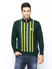 Monte Carlo Men Green Merino Wool Blend Sweater