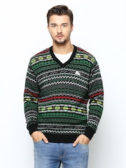Monte Carlo Men Multicoloured Merino Wool Blend Sweater