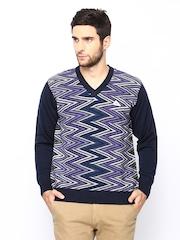 Monte Carlo Men Multicoloured Merino Wool Blend Sweater