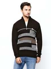 Monte Carlo Men Brown Wool Blend Sweater