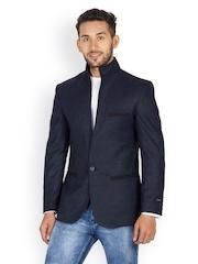 Monteil & Munero Men Blue Single Breasted Blazer