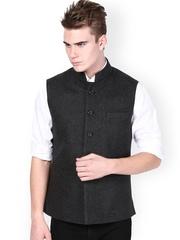 Monteil & Munero Men Grey Nehru Jacket
