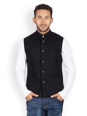 Monteil & Munero Men Black Waistcoat