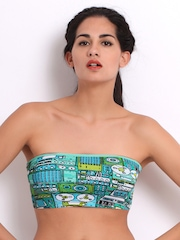 Bwitch MTV Show Off!! Blue & Green Printed Tube Bra