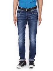 Mufti Men Blue Super Slim Fit Jeans