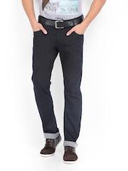 Mufti Men Dark Blue Narrow Fit Jeans