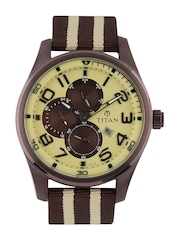 Titan Men Yellow Dial Watch