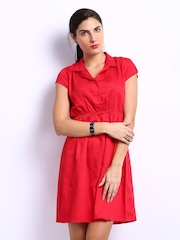 My Addiction Red Shirt Dress