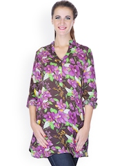 My Addiction Women Multicoloured Floral Printed Tunic