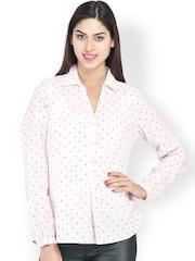 My Addiction Women Pink Polka Dot Printed Top