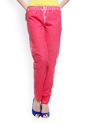 My Addiction Women Red Smart Fit Trousers