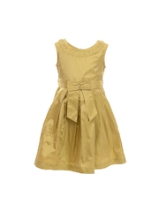My Lil Berry Girls Olive Green Fit & Flare Dress
