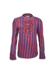 My Lil Berry Girls Red & Blue Checked Flannel Shirt
