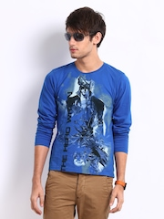Myntra Men Blue Krrish 3 The Hero Within Print T-shirt