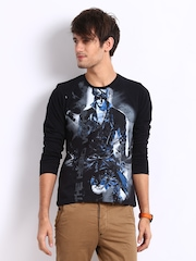 Myntra Men Black Krrish 3 The Hero Within Print T-shirt