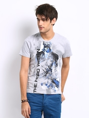 Myntra Men Grey Melange Krrish 3 The Hero Within Print T-shirt